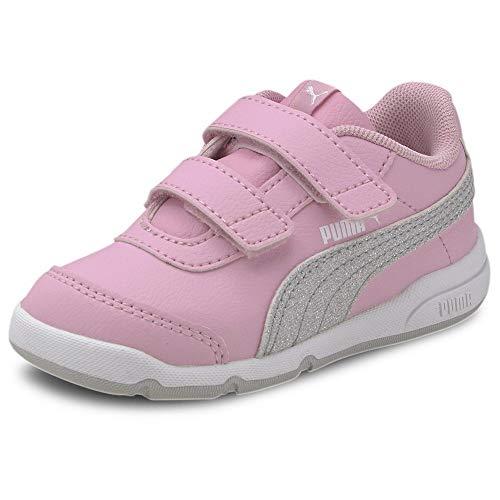 pequeño y compacto PUMA STEPFLEEX 2 SL VE Glitz FS VI, zapatillas de deporte para niña, rosa (rosa pálido, plateado, blanco / gris violeta),…