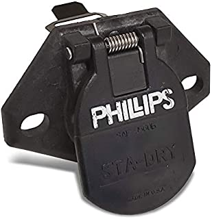 UrMarketOutlet Phillips 16-726 7-Way Havy Duty STA-Dry 2-Hole Bullet w/Locking Clip Socket