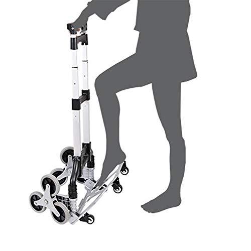 Elektrowerkzeuge & Handwerkzeuge Folding Handkarren,Treppensteigen mit 6 Rädern,160 lbs Tragfähigkeit,41 Höhe,Handwagen Ideal for Haus,Auto,Büro,Reise Verwenden Zubehör-Jigs. (Size : Stair Climber)
