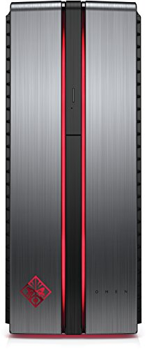 OMEN by HP (870-055ng) Gaming Desktop PC (Intel Core i7-6700K, 16GB RAM, 128GB SSD, 2TB HDD, NVIDIA GeForce GTX 1070, Windows 10 Home 64) Metall Optik