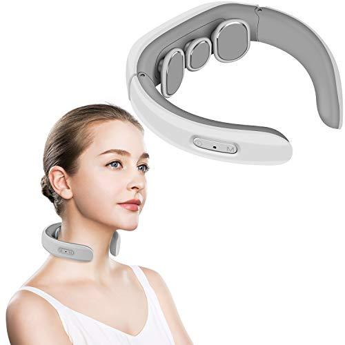 Nackenmassagegerät, elektrisches Puls-Nackenmassagegerät, kabelloses Nacken Gewebe mit tiefem Gewebe gegen Schmerzen bei zervikalen Muskelschmerzen