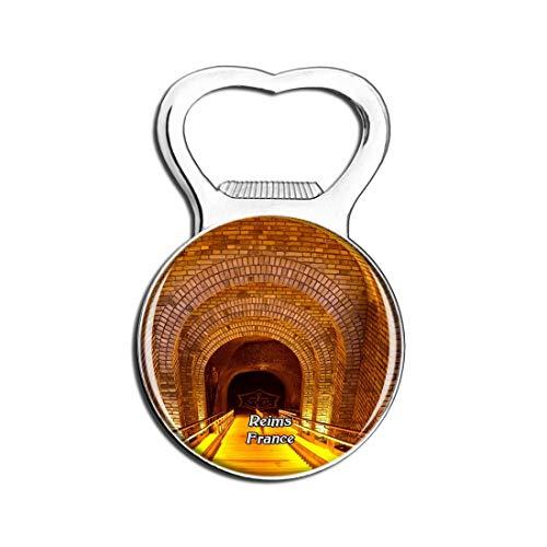 Weekino Reims Frankreich Veuve Clicquot-Ponsardin Bier Flaschenöffner Kühlschrank Magnet Metall Souvenir Reise Gift