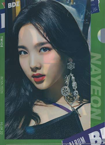 韓国 K-POP ☆TWICE トゥワイス NAYEON ナヨン☆ クリアファイル A4サイズ クリアホルダー P-317