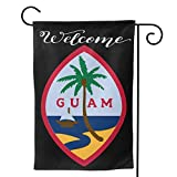 "DOOD HYQZ Guam Flag Garden Flag 28""x40"",12.5""x18"" Family Decorative Xmas Welcome Banner Outside Yard Mailbox Festival Colours Ornaments House Decoration-Double-Sided Printing"
