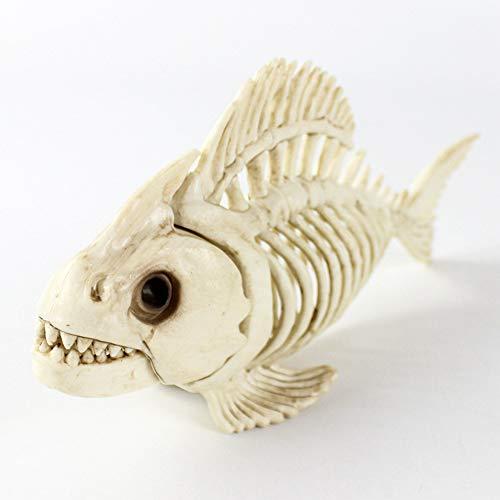 Tierskelett Modell - Fischskelett Spukhaus Tierskelett Horror Bar Filmrequisiten Halloween Ornament für Kinder Spielzeug Geschenk, Simulation Tier Fisch Sammler Dekor Modell