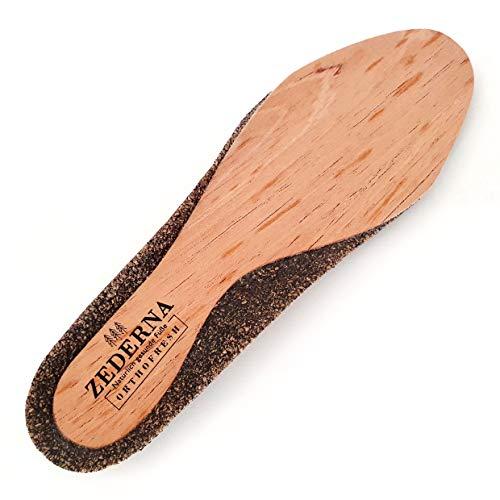 Zederna Orthofresh 2.0 – orthopädische Einlegesohlen für natürlich trockene Füße und gesunden Laufkomfort. Zedernholz Einlagen mit Kork zur Unterstützung für hoch beanspruchte Füße im Alltag / Beruf.
