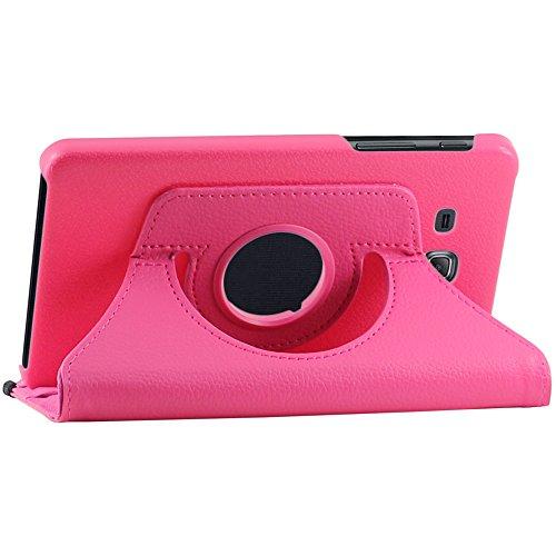 ebestStar - Funda Compatible con Samsung Galaxy Tab A 7.0 2016 T280 T285 Carcasa Cuero PU, Giratoria 360 Grados, Función de Soporte, Rosa [Aparato: 186.9 x 108.8 x 8.7mm, 7.0'']