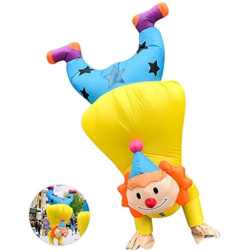ykop Disfraz de payaso hinchable para fiestas de Pascua, para fiestas de disfraces, carnaval, para cumpleaos, Halloween, Navidad