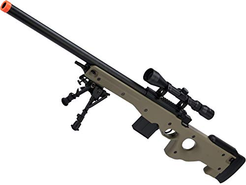 Evike CYMA Advanced L96 Cycling Action High Power Airsoft Sniper Rifle (Color: Tan Add Scope)