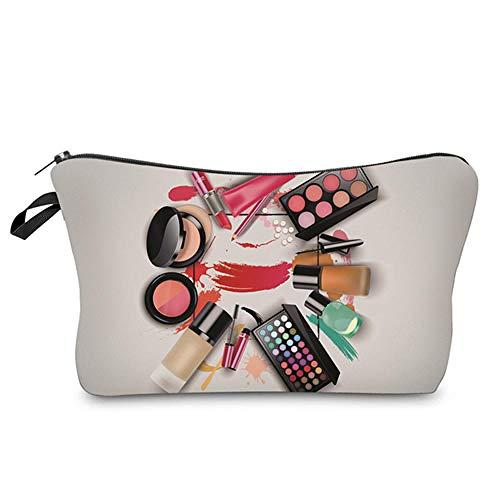Sacs à cosmétiques Impression Cercle Maquillage modèle nécessaire Stockage Femmes Articles de Toilette 22 * 18 * 13.5 cm-50758_22 * 18 * 13.5 cm