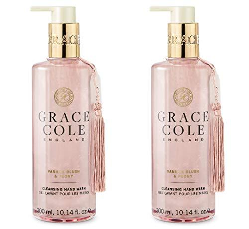 Grace Cole Vanilla Blush & Peony Cleansing Hand Wash, 2 x 300ml