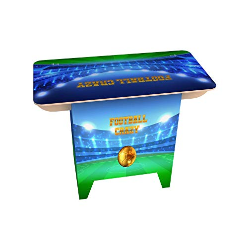 FunDesks Cardboard Home Desk for Home Office and Home Study – Football Crazy Design. Strong and Easy to Build – No Tools Required. Eco-friendly 100% Recyclable Cardboard Desk (740h x 500w x 980 mm)