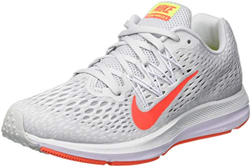 Nike Zoom Winflo 5, Scarpe Running Donna, Multicolore (Pure Platinum/Bright Crimson/White 005), 38 EU