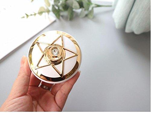 Huertuer – Kontaktlinsenbehälter mit Pentagramm-Muster, für Mädchen, plastik, gold, 7.5x3.0cm
