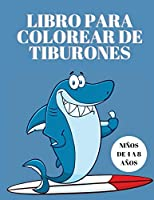 Libro para colorear de tiburones para niños de 4 a 8 años