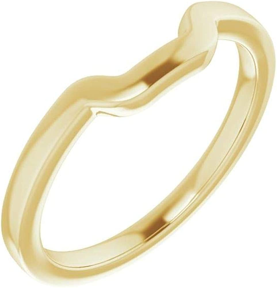 Outstanding Solid 14K Yellow Gold Curved Notched Wedding E 10 for Band latest x 8mm