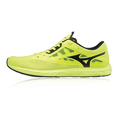 Mizuno Wave Sonic 2, Zapatillas de Running Hombre, Amarillo Seguridad Amarillo Negro Blanco 2, 44 EU
