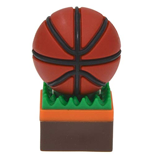 Uflatek Memoria Flash USB 64 GB Baloncesto Modelo Pendrive USB 2.0 Stick Marrón Color U Disco Silicona Unidad Flash USB Almacenamiento de Datos Externo