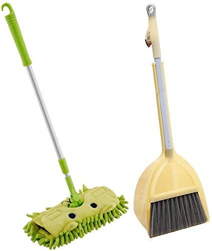 YYhkeby Juguetes de Limpieza de Barrido Infantil- Set de la Escoba de los niños, Herramientas de Limpieza de Mini Servicio de Limpieza para niños de 3 años de Edad Jialele (Size : B)