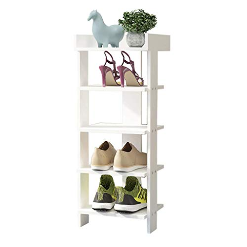 GENFALIN Zapatero Slip Almacenamiento estantes Corredor Planta/Sala de Estar/Dormitorio/Corredor, Blanco, 5th Floor, 30x24x80cm