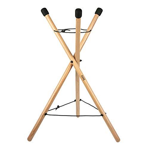 Sela SE 198 Handpan Stand, soporte de percusión, plegable, madera de haya, regulable en altura