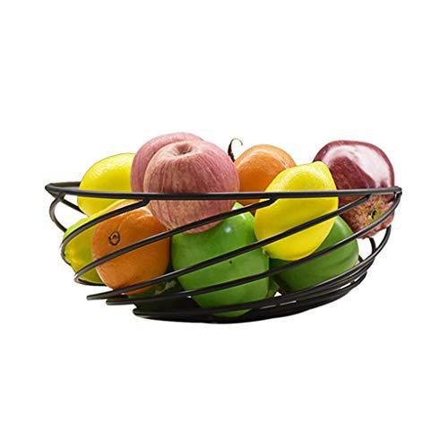 GONGFF Plato de Frutas Canasta de Frutas Tazón de Fruta Curvado Bocadillos Europeos Lavabo de colocación de Almacenamiento doméstico multifunción