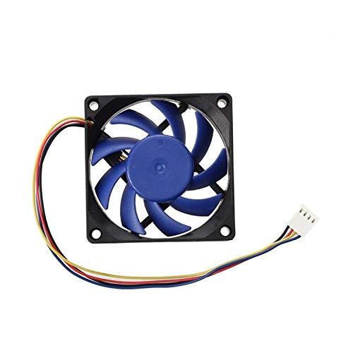 CHENHUA Ventilador de enfriamiento de Alto Rendimiento 12V DC 32 de 70 mm 4 Pines Caja de la computadora CFM PWM PC CPU Ventilador Azul Negro (Blade Color : Black Blue)