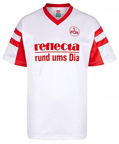 ScoreDraw Herren Retro - Trikot 1. FC Nürnberg | Auswärtstrikot 1988 in Weiß, Größe: XXL