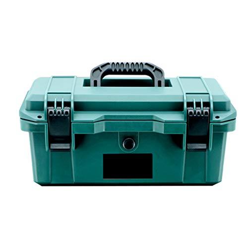 LEISHENT Werkzeugkasten Tragbare Werkzeugkastenablage, Hardware-Organizer Für Zuhause, Handwerker Und Garage, Robuster Koffer,16 Zoll, Größe - 39,5 cm X 22,5 cm X 18 cm,Grün