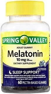 Spring Valley Adult Gummies Melatonin 10mg Pectic 60 count