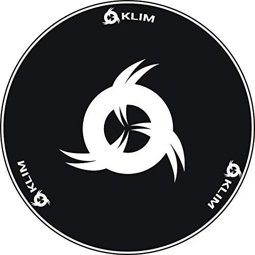 KLIM Chair Mat - Alfombra de Tela para sillas con Ruedas + Protector de Suelo para Silla de Oficina + Decora tu Oficina, salón, Dormitorio, etc. + 120 cm + Nueva 2021 (Logo Blanco)
