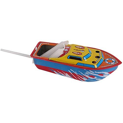 POFET Vela clásica accionada velocidad barco barco lata juguete agua decoración hecha a mano