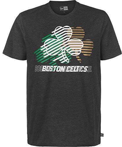 New Era Boston Celtics Repeat Logo Herren T-Shirt grau (S)