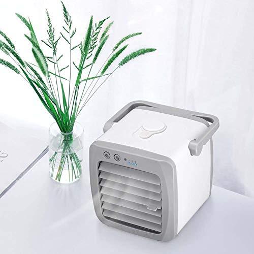 AZZ Enfriador de Aire Personal, acondicionador de Aire portátil, humidificador, purificador, refrigerador evaporativo con 3 Velocidad, Mini Ventilador de Escritorio de la Tienda de campaña, Oficina
