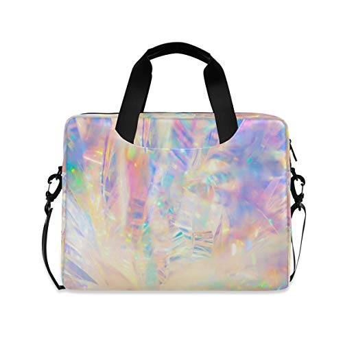 XIXIKO Rainbow Abstract Laptop Bag Expandable Trolley Briefcase Bag for Women Men with Detachable Strap for Work Trip Business Travel iPad MacBook