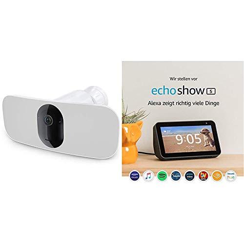 Arlo Pro3 Floodlight-Überwachungskamera & Echo Show 5 | schwarz