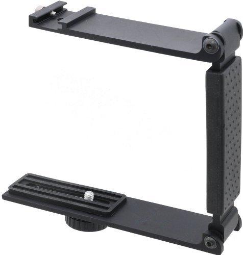 Digital Nc Aluminum Mini Folding Bracket for Canon PowerShot SX70 HS (Accommodates Flashes, Lights Or Microphones)