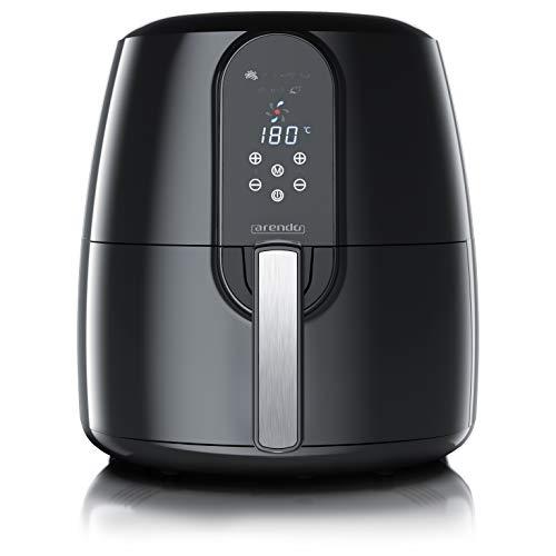 Arendo - XXL Heißluftfritteuse 5,2 Liter - Airfryer - Frittieren ohne Öl - Fritteuse mit 1800W - bis 200 Grad - Timer - 7 Programme - 3D Umluftsystem - digitalem Display - Schwarz