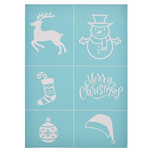 CHZIMADE Weihnachtsmuster Schablone, selbstklebende Siebdruckschablone für Tasche, T-Shirts, Papier und Dekoration schildkröte