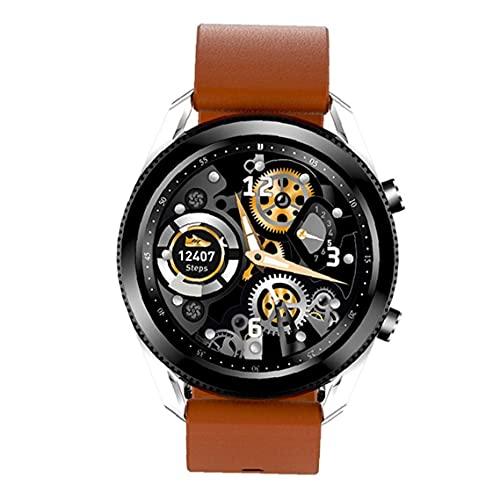 Tuimiyisou SPO2 presión Arterial Bisel Giratorio Deportes Pantalla Pulsera Reloj Inteligente Puede detectar F5 marrón