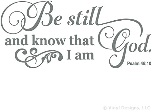 Be Still And Know That I Am God Wall Decor from m.media-amazon.com