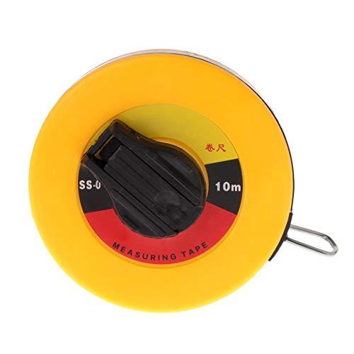 ZChun glasvezelmeetlint 10/15/20 / 30m handschijf schijf flexibele liniaal optrekmaat 10m geel