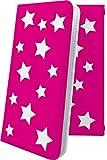 iPhone6s ケース 手帳型 ピンク 桃色 星 星柄 星空 宇宙 夜空 星型 アイフォン アイフォーン ……