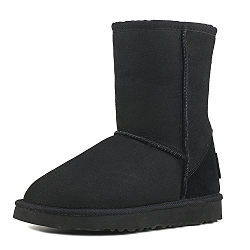 AUSLAND Water Resistant Classic Leather Mid-Calf Snow Boots