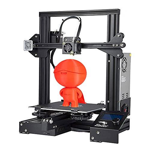 Stampante 3D Creality Ender 3 completamente open source economica con funzione di ripresa della stampa 220x220x250mm