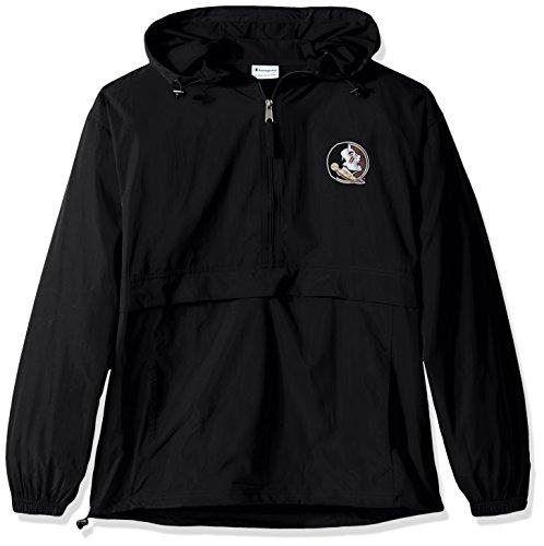 Champion NCAA Mens Half Zip Front Pocket Packable Jacket Florida State Seminoles X-Large