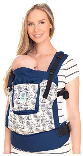 LÍLLÉbaby 4-in-1 Essentials Original Ergonomic Baby & Child Carrier, Blue Maritime - 100% Cotton