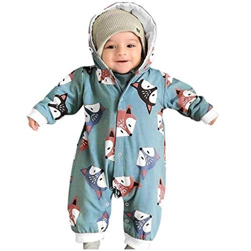 SANFASHION Unisexe Combinaison Barboteuse Kid Toddler Bébés Filles Garcon Imprimé Bande Dessinée Chaud Hiver Automne Sweat a Capuche Coton Bodys et Combinaison Barboteuse Dors Bien