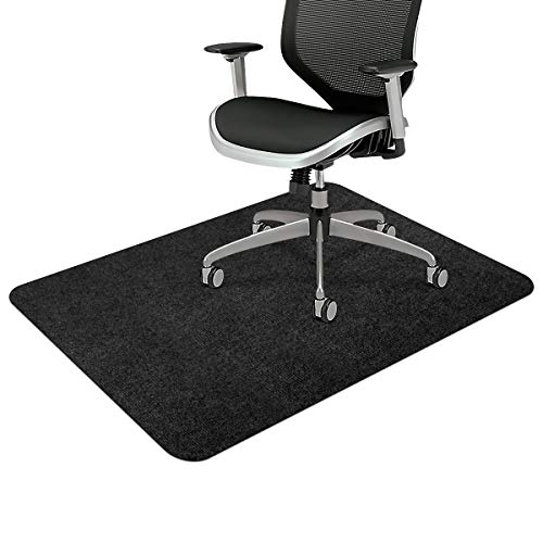 """Office Chair Mat, Upgraded Version - Office Desk Chair Mat for Hardwood Floors, 1/6"""" Thick 55""""x35"""" Hard Floor Protector Mat, Multi-Purpose Chair Carpet for Home (Black)"""