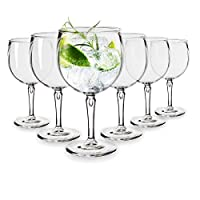 rb bicchieri balloon cocktail gin plastica premium infrangibile riutilizzabile 40cl, set di 6